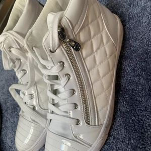 Guess white high top sneakers women's size 9.5
